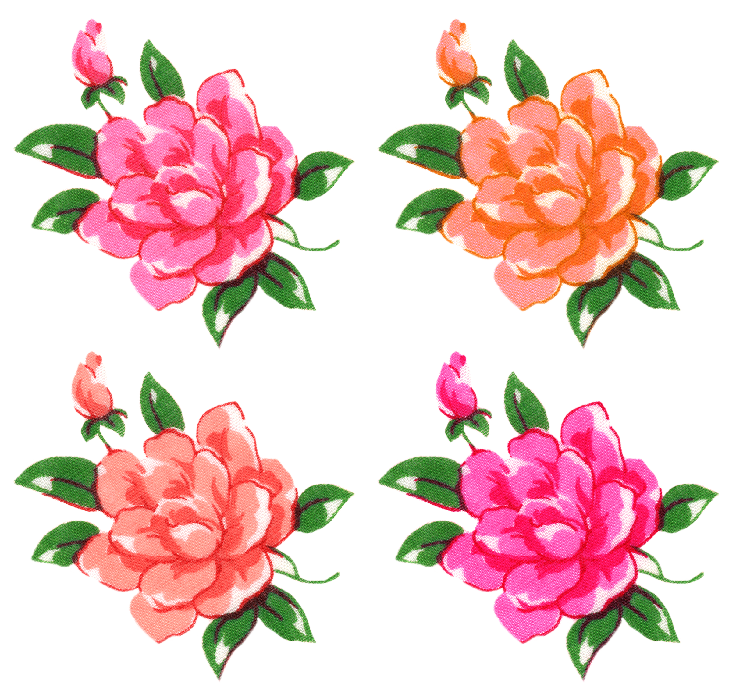 Free Digital Vintage Flowers By FPTFY