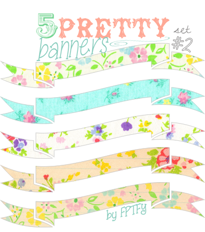 Free Vintage Banners se no2 by FPTFY web ex