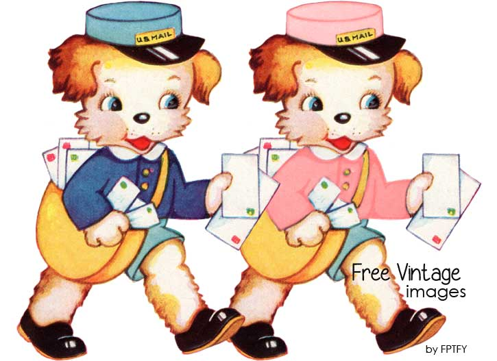 free_vintage_image_puppy_postman_by_fptfy