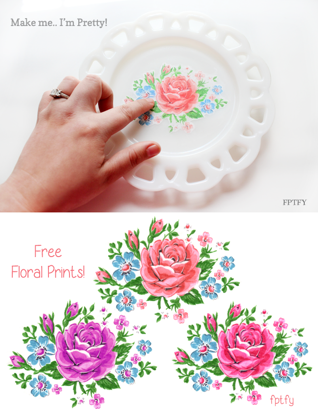 vintage inspired floral plate by FPTFY_5