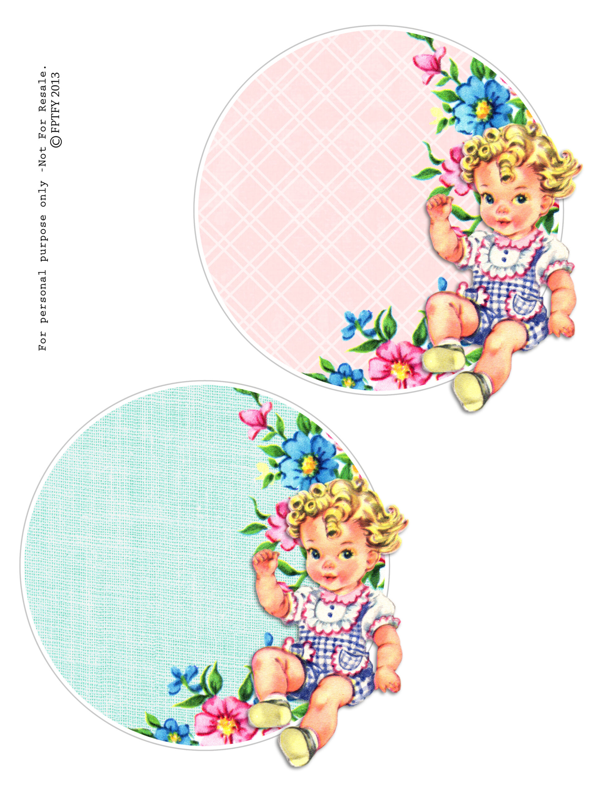Free Vintage Baby Circles - Free Pretty Things For You