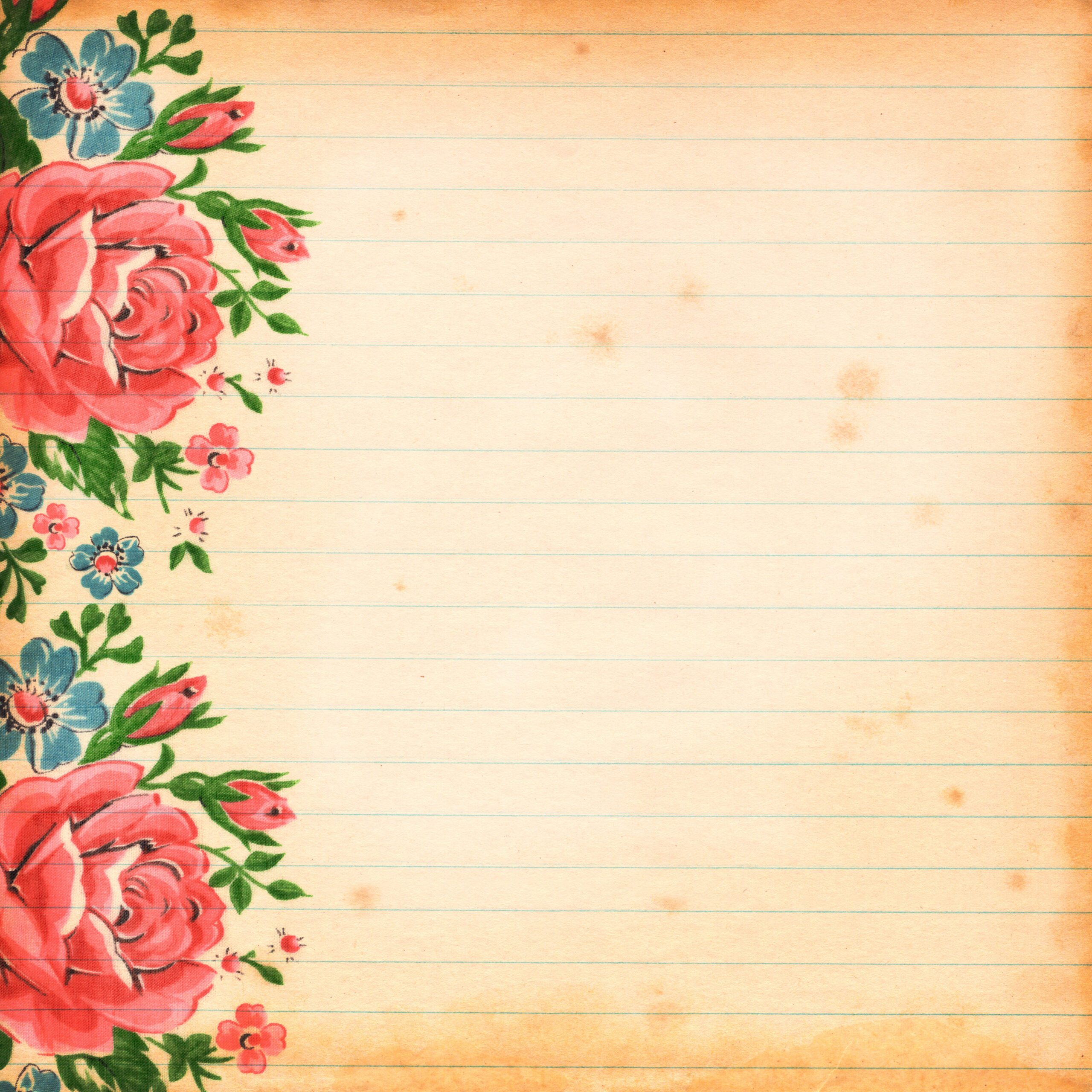 Free digital scrapbook paper commercial use ok free pretty things free vintage floral digital scrapbooking paper by fptfy 5 mightylinksfo