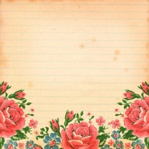 Free Vintage floral Digital Scrapbooking Paper by FPTFY 6