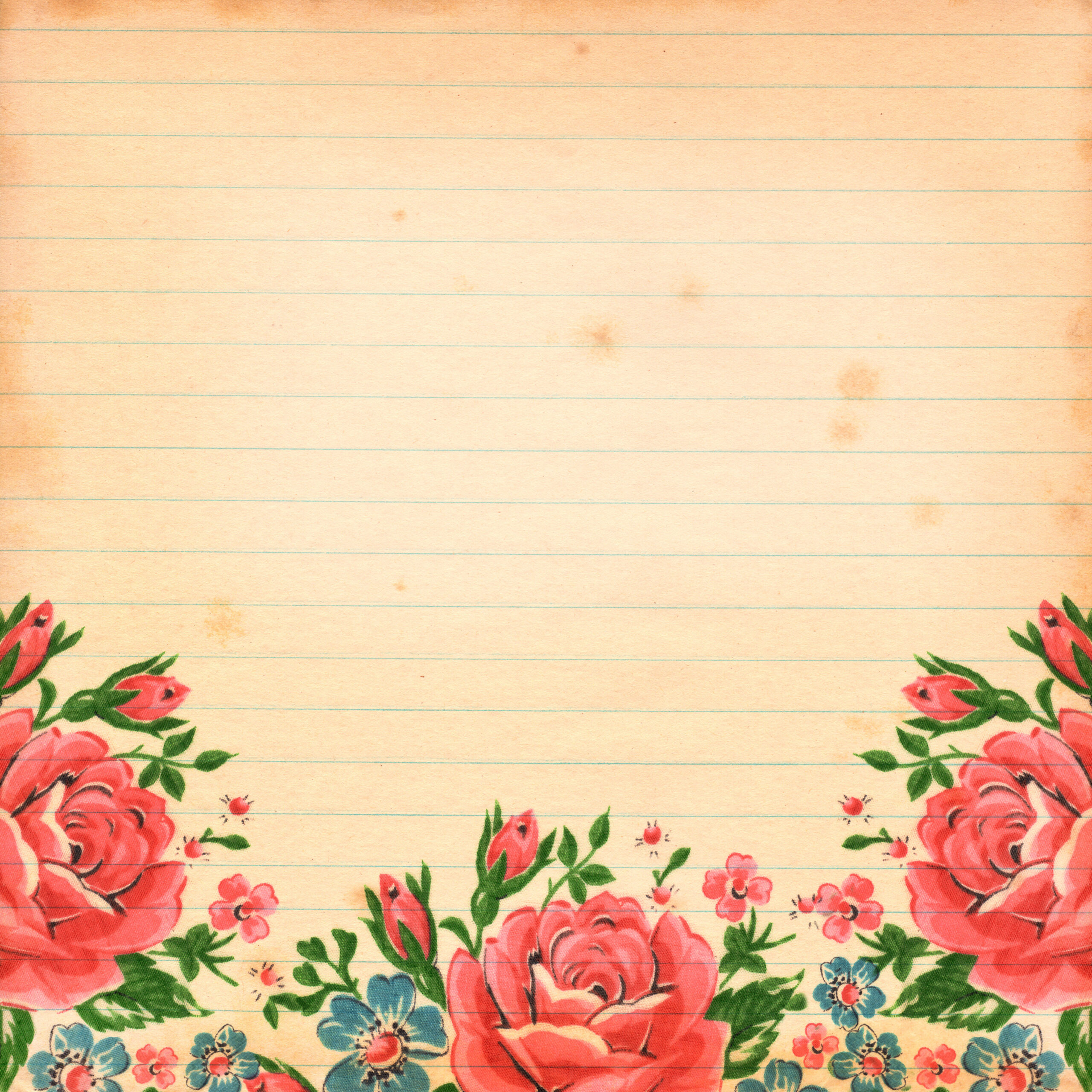 Vintage Flower Paper Kampa Luckincsolutions Org