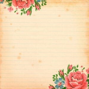 Free Vintage floral Digital Scrapbooking Paper  by FPTFY 7