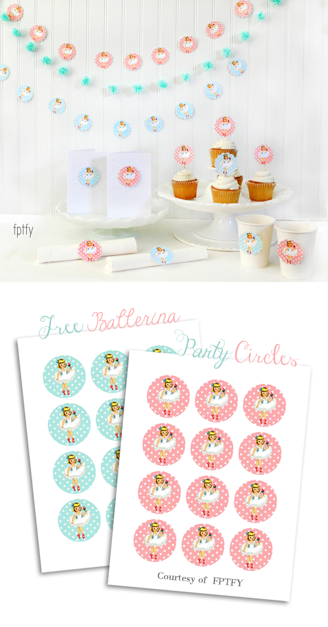 Uncategorized Ballerina Printables free ballerina party printable circles