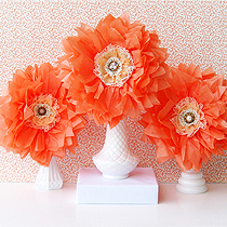 DIY tissue flowers by FPTFY