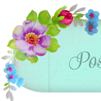 Free Vintage Floral Post Pretty and Printable Page