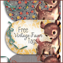 Free Vintage Fawn Fall Printable Tags
