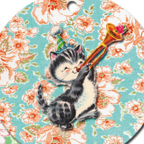 Freebie vintage birthday kitty tags ex