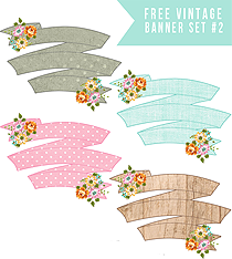 Pretty Floral Printable Banners Set #2!