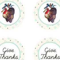 free thanksgiving vintage printables
