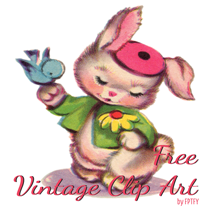 free-vintage-bunny-and-bluebird