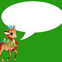 free vintage christmas deer green