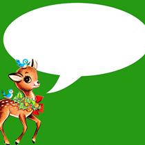 free vintage christmas deer green