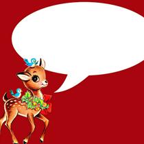 free vintage christmas deer red