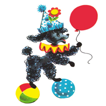 free vintage clipart Vintage poodle from FPTFY