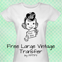free vintage large transfer
