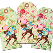 Freebie Vintage Image: Easter Tags for You Deer!