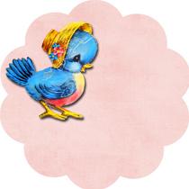 vintage bluebird tags