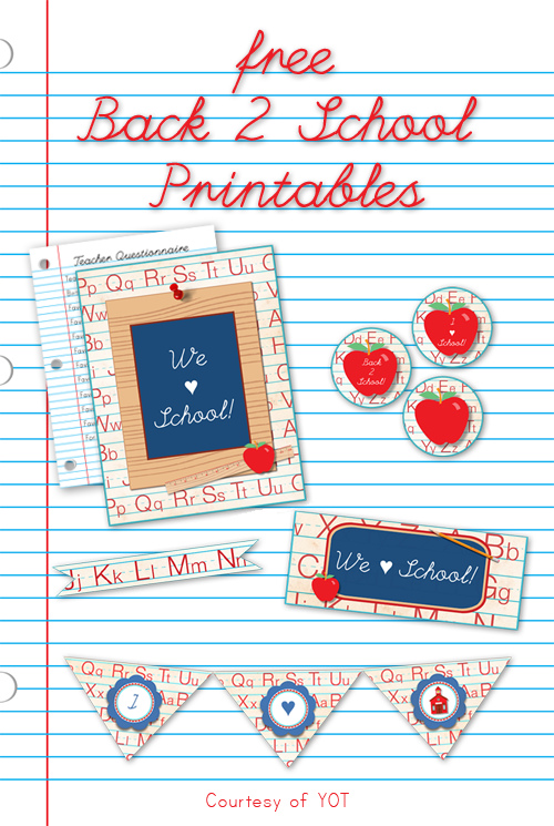 Back to school printable colletion by FPTFY