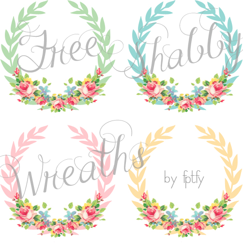 Free_Shabby_Chic_Digital_Wreaths_FPTFY_2