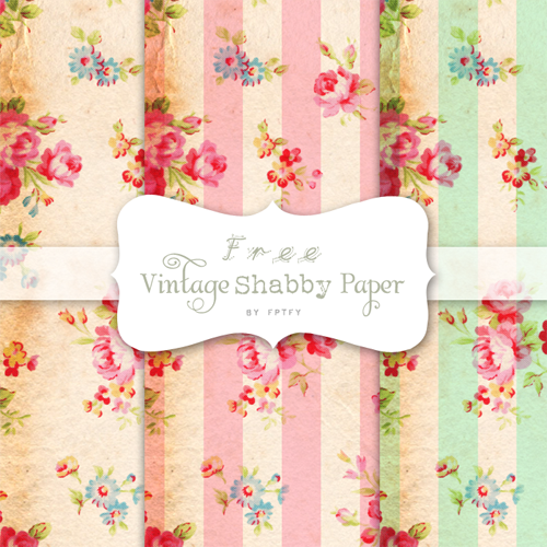 free shabby papers by fpfty