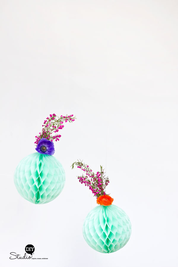 DIY-Fresh-Flower-Honeycomb-Decor