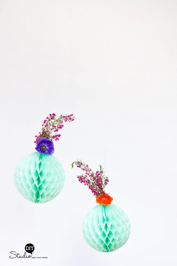 DIY-Fresh-Flower-Honeycomb-Decor