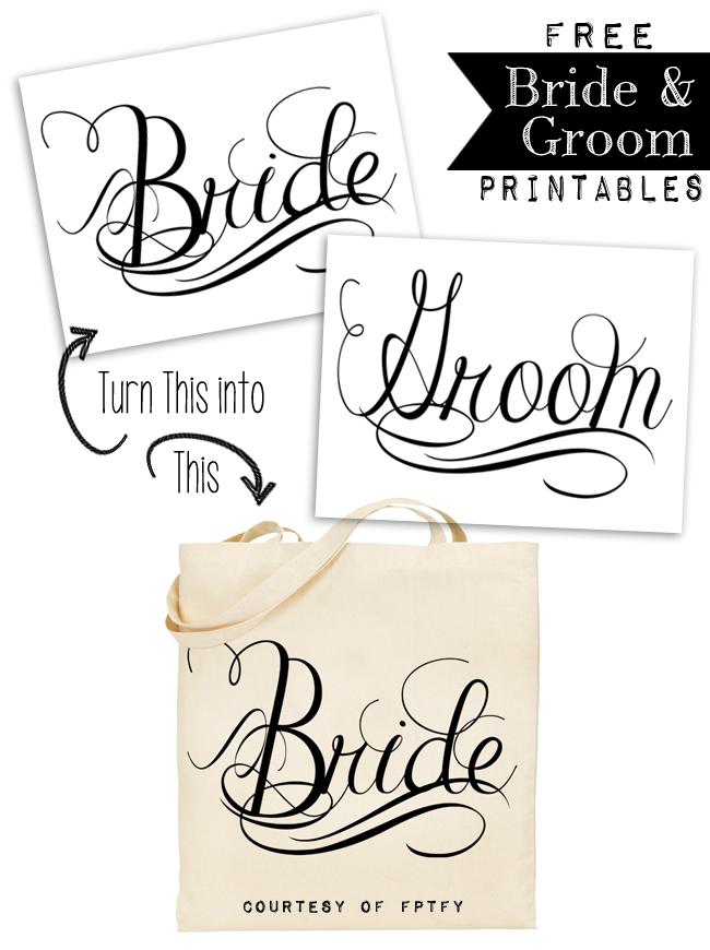 Free Wedding Printables.Free Calligraphy Bride And Groom Wedding Printables