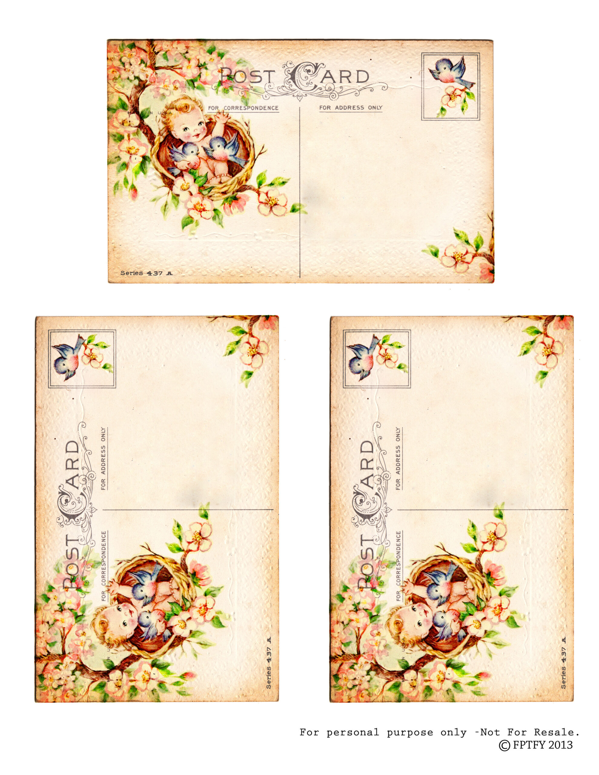 baby post cards