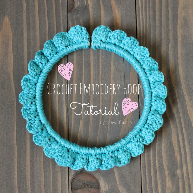 DIY Crochet Hoop-embroidery hoop scallops