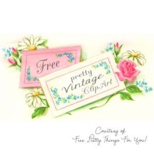 Free Vintage Flower Clip Art