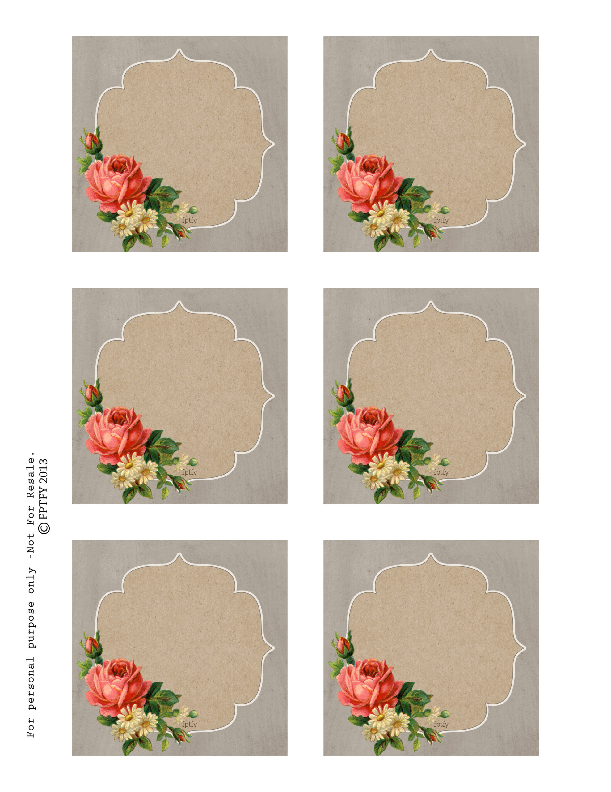 Autumn rose printable tags and labels free autumn rose printable tags by fptfy negle Gallery