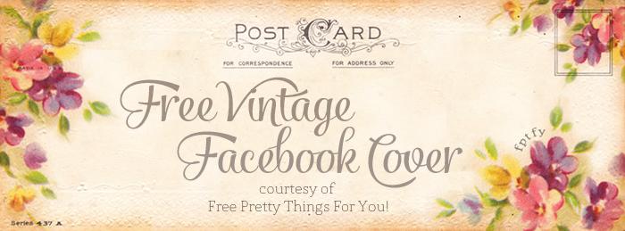 free vintage altered art postcards facebook timeline cover