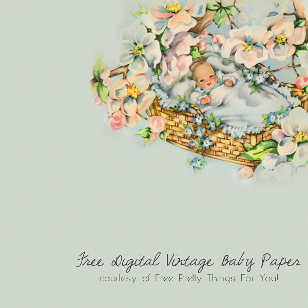 free_vintage_baby_digital_scrapbook_paper_1c