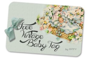 Free Vintage Baby Gift Tag