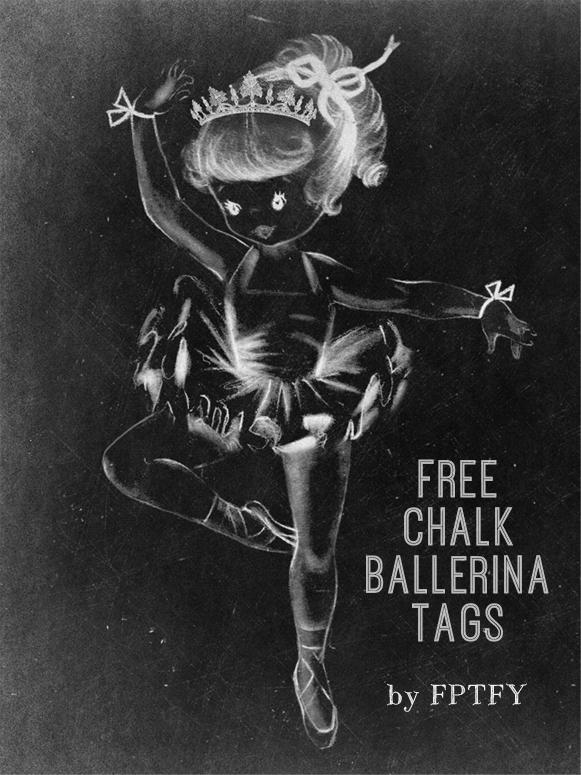 Chalkboard Ballerina Tags