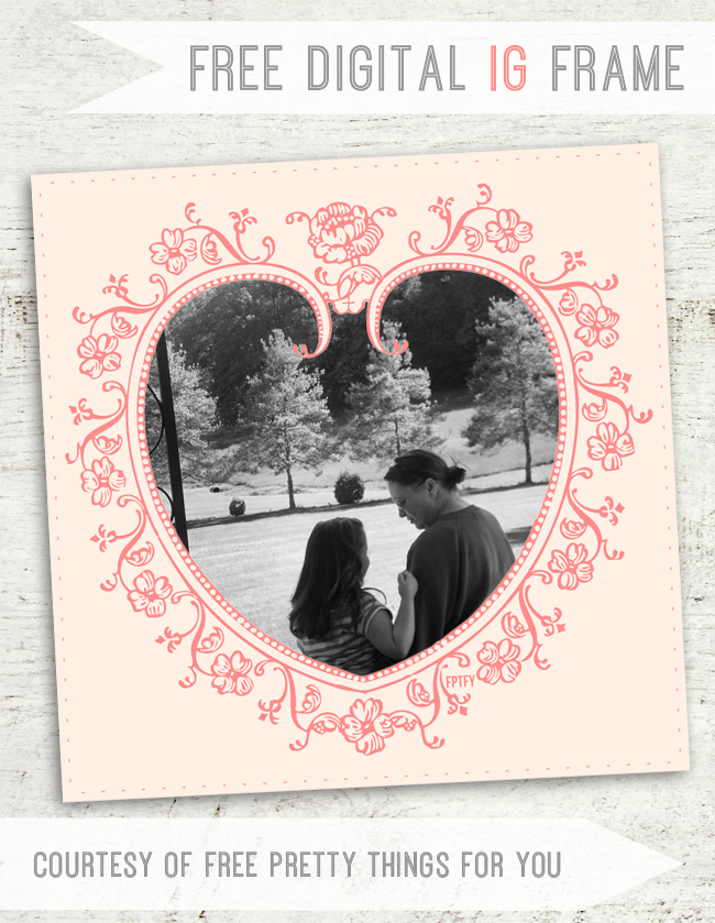 Free Love Web/Instagram Frame - Free Pretty Things For You