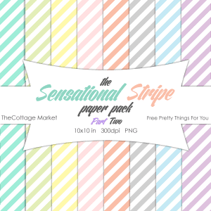Free Stripe Digital Scrapbooking Paper