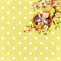 Free Digital Scrapbooking Paper: Vintage Baby on the Tree Top Part 1