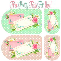 Pretty Floral and Polka Dot Tags