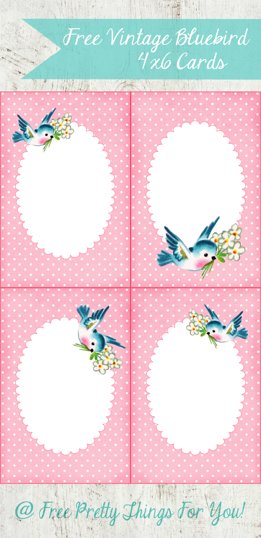 4x6-vintage bluebird-cards