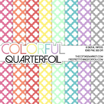 Free Quaterfoil Digital Scrapbooking Paper Part 2
