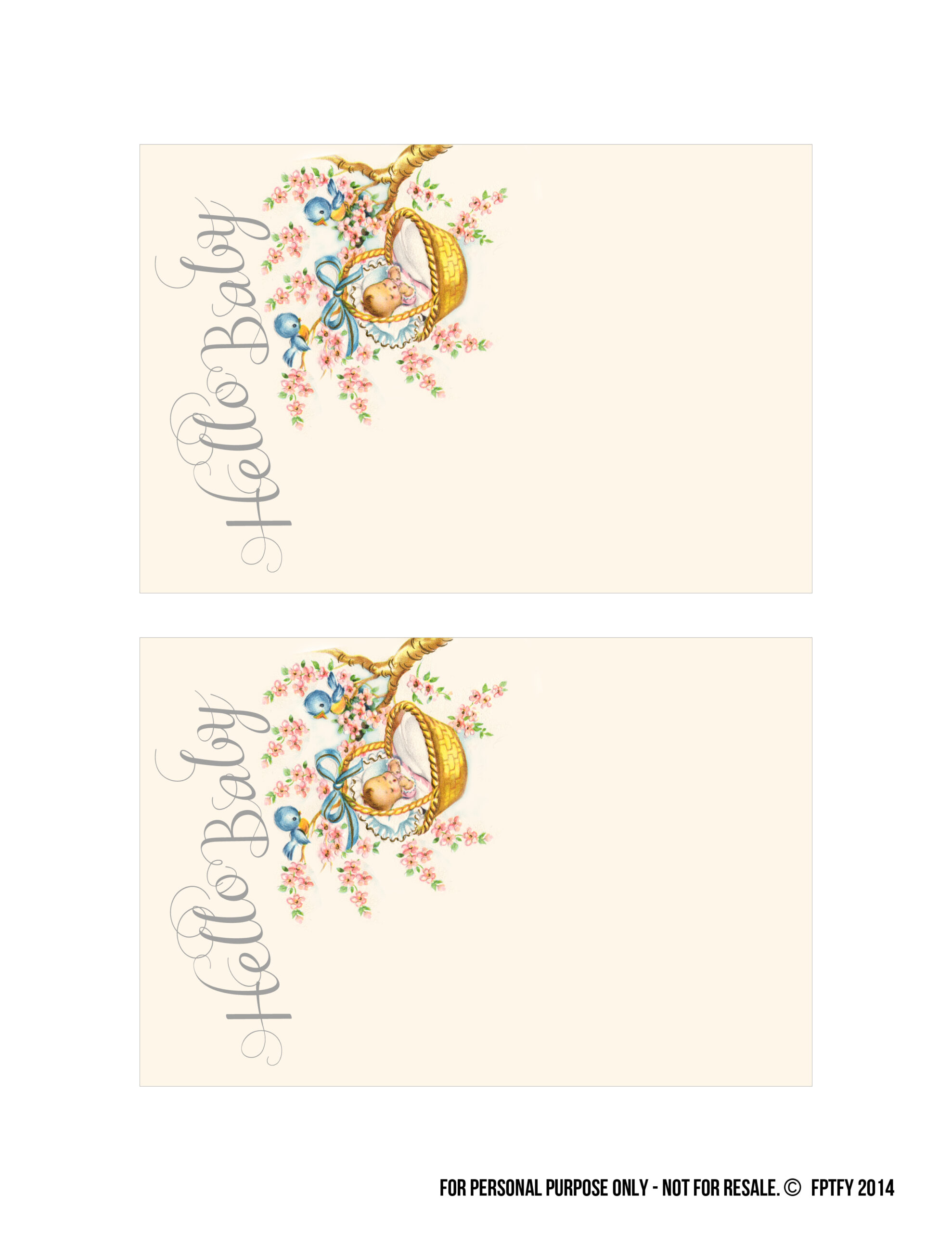 Free Vintage Baby Shower Printable Collection Free Pretty