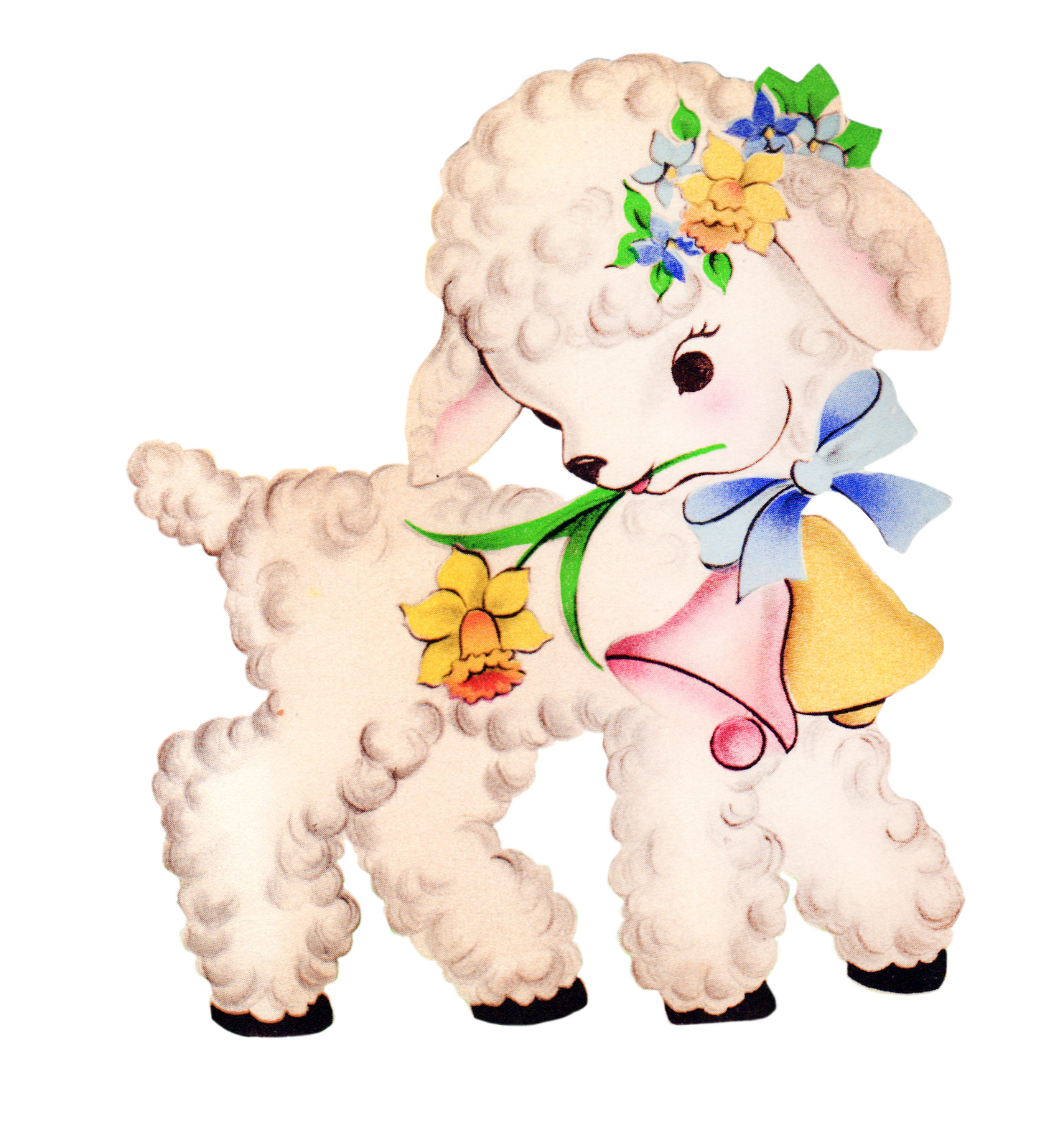 Free Vintage Baby Lamb Clipart - Free Pretty Things For You