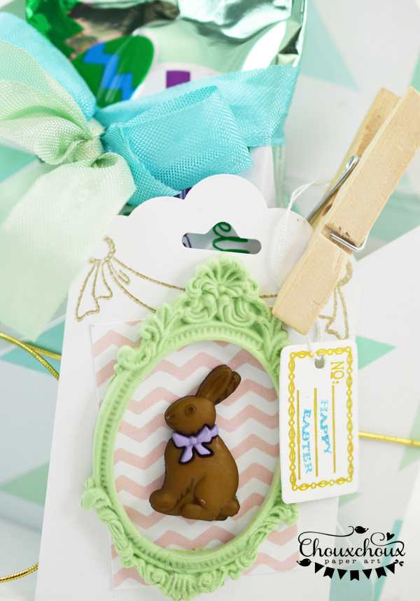 chocolate bunny tag easter