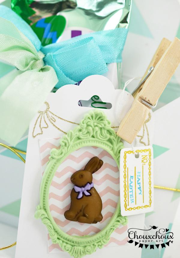 chocolate bunny tag easter