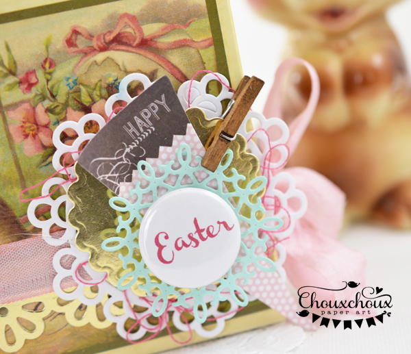 easter candy box badge close
