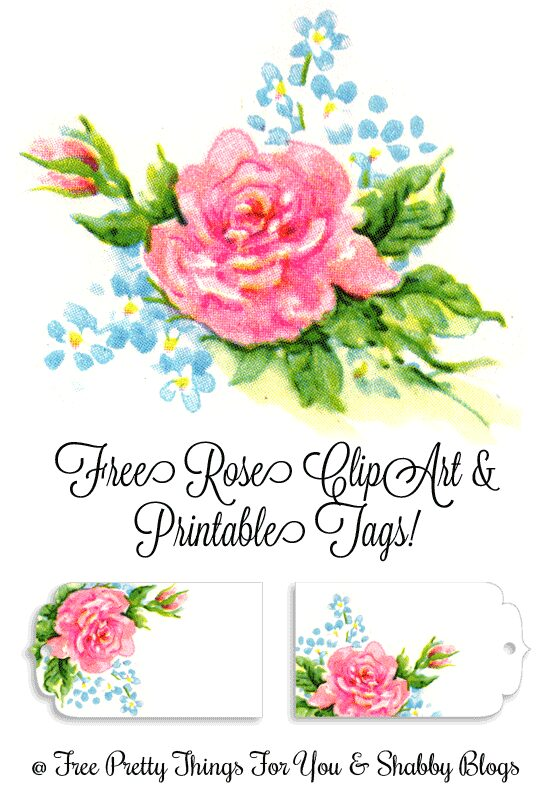 free-vintage-rose-and-flowers-Clipart-FPTFY-1